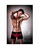 Passion 001 komplet Leder rot / schwarz s / m