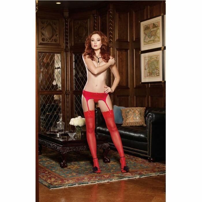 Strapsen eleganten roten Strumpfband