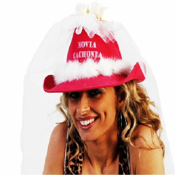 Geile Freundin Hut mit weißem Tüll