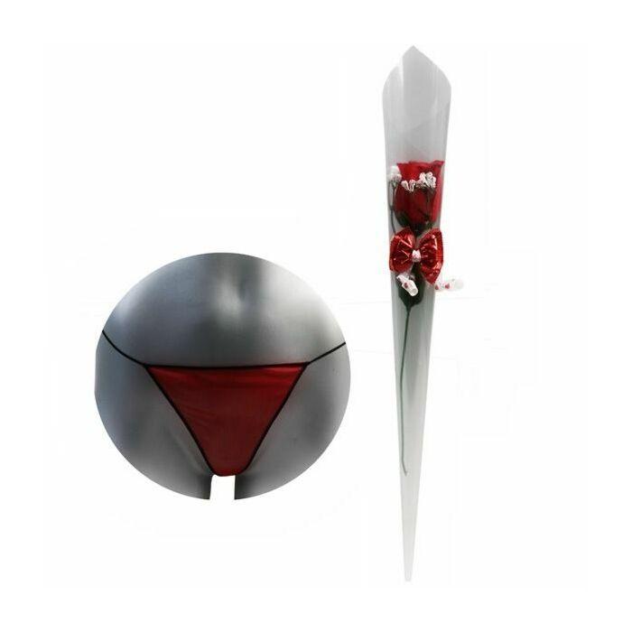 Blume mit roten Tanga