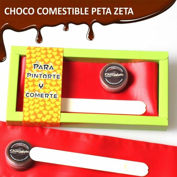 Fall zu malen und Schokoladengeschmack essen