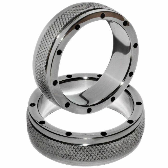Metalhard Metallring für Penis und Hoden 55mm