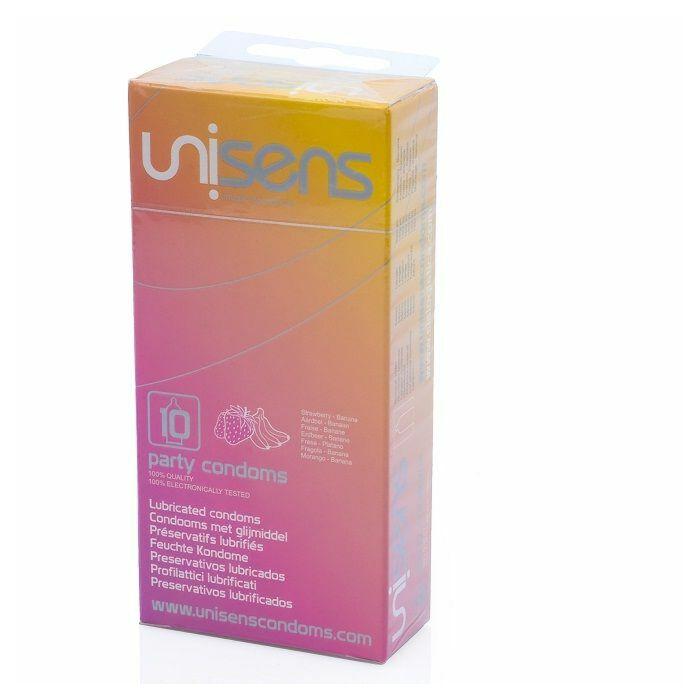 Unisens Vielzahl von aromatisierten Kondome 10 Stück